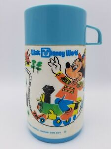 Walt Disney World Themed Aladdin Lunchbox Thermos Bottle Cap n Lid Mickey Mouse