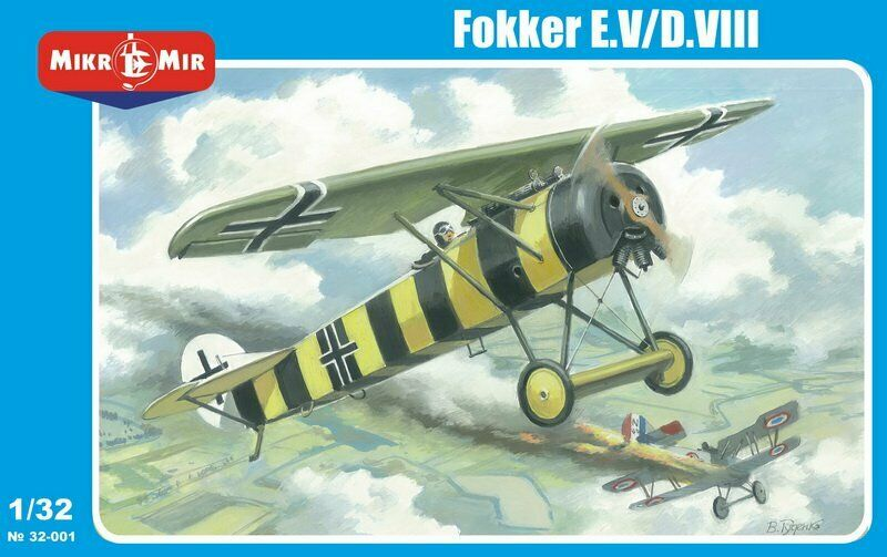 Mikro Mir 32-001 German monoplane fighter Fokker E.V D.VIII 1 32 Scale Model Kit