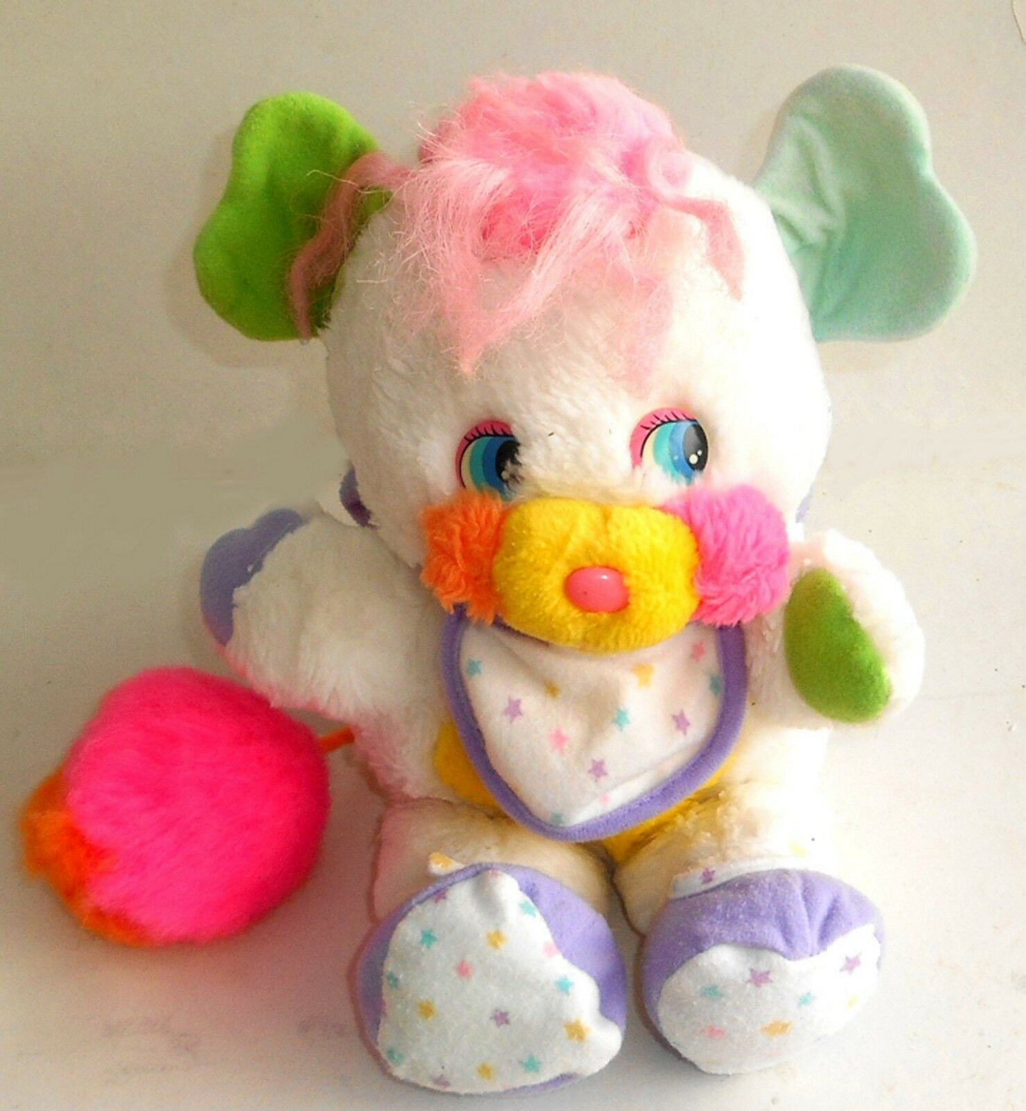 Vintage 1980's  Popples Popples Popples   Baby BIBSY Popple  11  Plush Toy - (SP27) c73b87