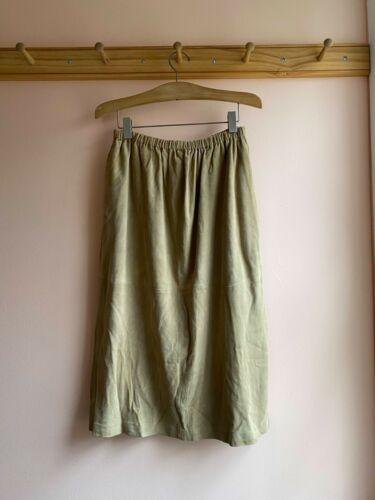 BASERANGE suede high waist elastic easy fit dress