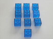 Lego 3003# 10x Basic Stein 2x2 Transparent dunkel blau