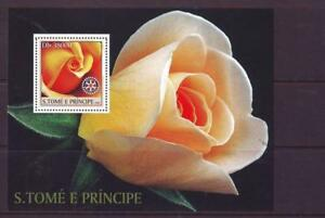 ST-THOMAS-amp-PRINCE-2003-ROSES-ROTARY-MINISHEET-MINT-NEVERHINGED