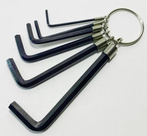 Bicycle metric allen key kit set 1.5nn 2mm 3mm 4mm 5mm 6mm Black Steel