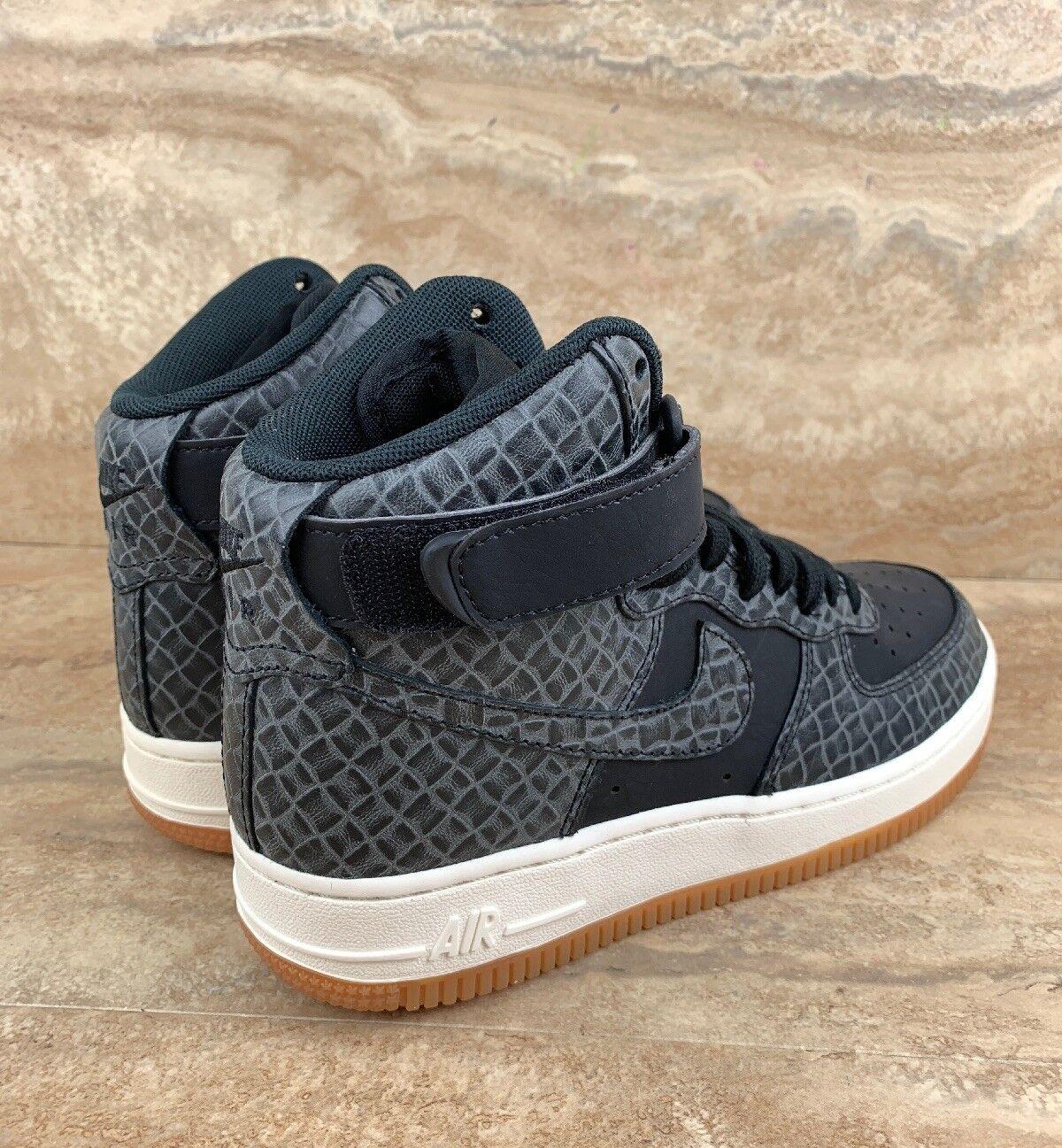 Nike Air Force 1 HI Premium Women's Women's Women's Basket Ball shoes Black Sail Gum 090a02