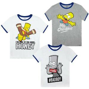 Boys Kids Teenage Simpsons Bart T Shirt Top t-shirt Age 7 8 9 10 11 12 13 14 Yrs