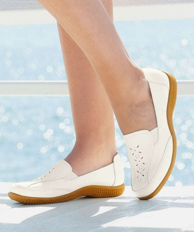 Coussin D'air Slip-on shoes White UK 5 EU 38 E Fit JS35 67 SALEs