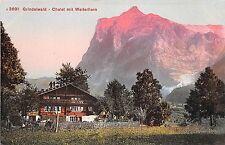 BF36744 grindelwald chalet mit weiterhorn switzerland
