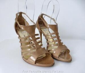 BIANCA-BUCCHERI-Women-039-s-Shoes-Size-40-Made-In-Italy-High-Heel-Leather-Sandals