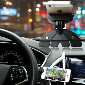 Car-CD-Slot-Mobile-Phone-GPS-Sat-Nav-Stand-Holder-Mount-For-iPhone-X-8-7-6-Plue