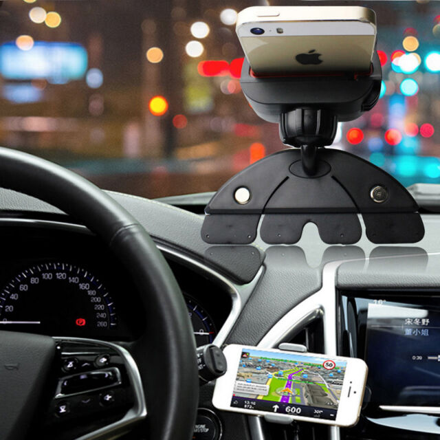 Car CD Slot Mobile Phone GPS Sat Nav Stand Holder Mount For iPhone X 8 7 6  PluT