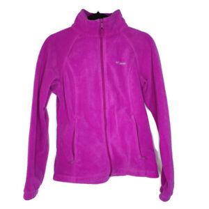 Columbia-Womens-Purple-Full-Zip-Fleece-Jacket-Coat-Winter-Size-Medium