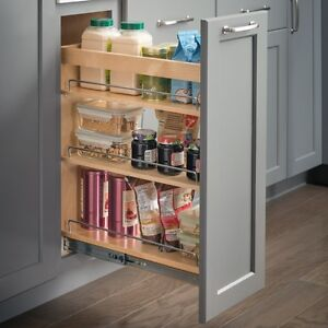 Details About Kitchen Cabinet Base Cabinet Pullout 10 X 21 X 24 Hard Maple Bpo10