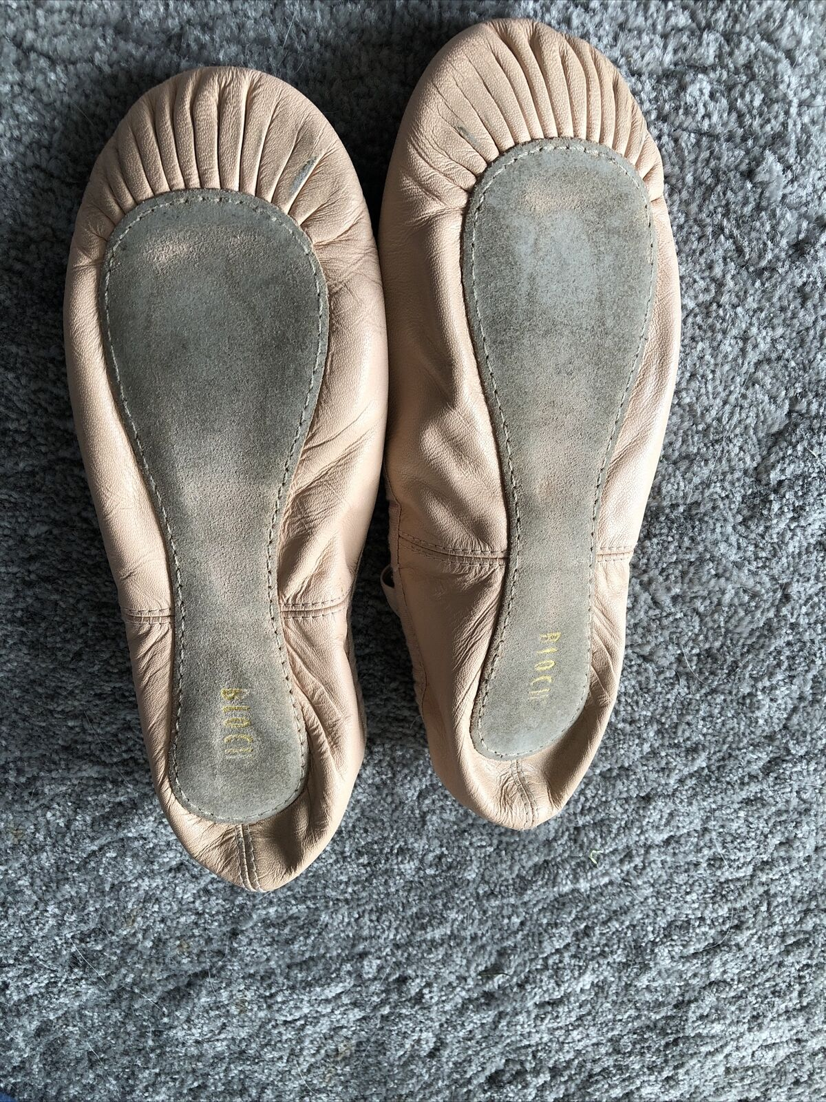 Pink Leather Bloch Ballet Dancing Shoes with strap Older Girls Ladies Size UK 5