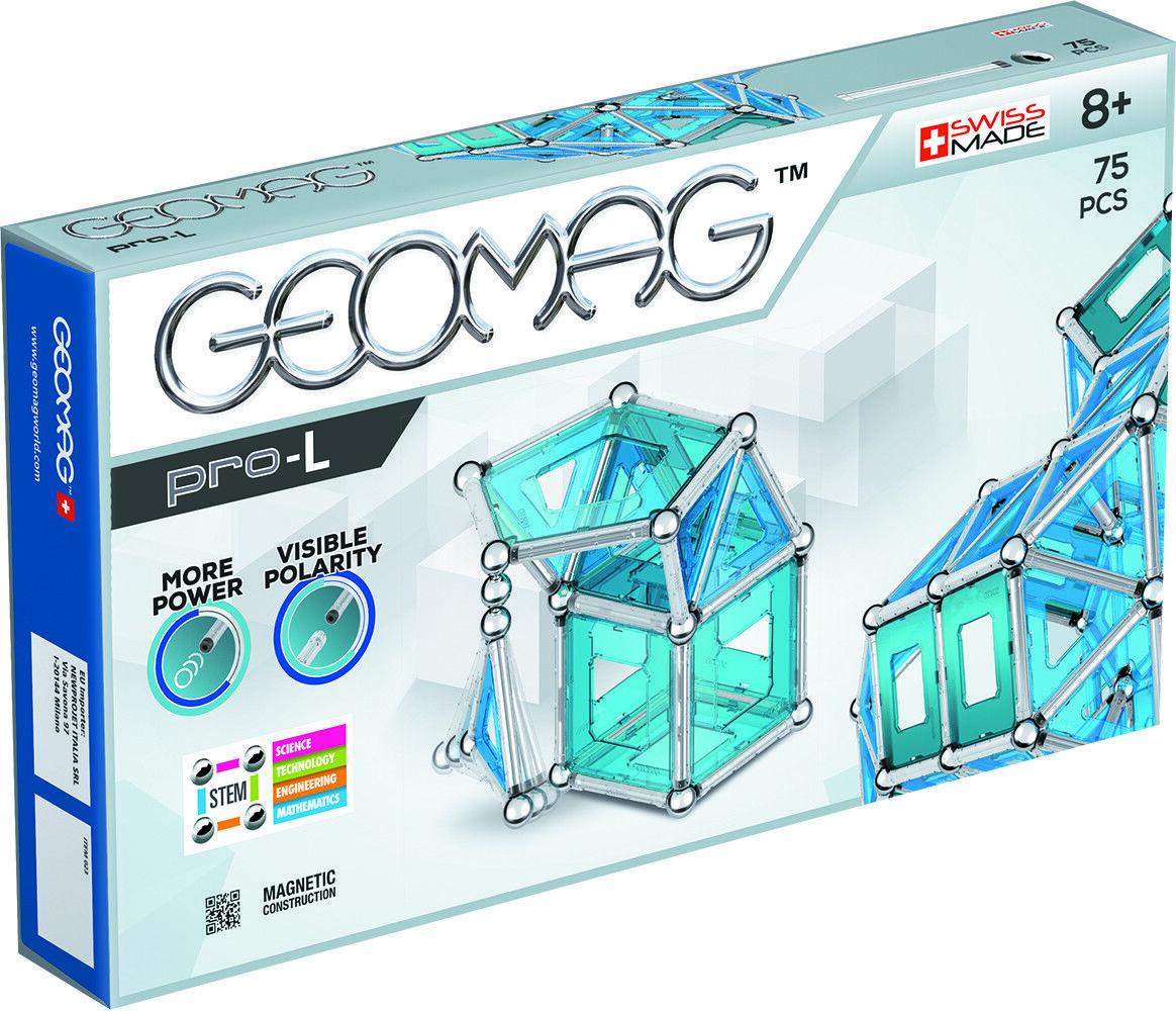 Geomag - Pro Pro - L 75 teilig - extra starke Magnetstäbe, Magnet Baukasten, Nr. 023 4abd02