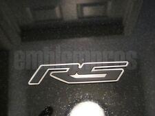 "GM LICENSED, 2010+ CAMARO ""RS"" Emblem Mirror Stainless Steel + Color"