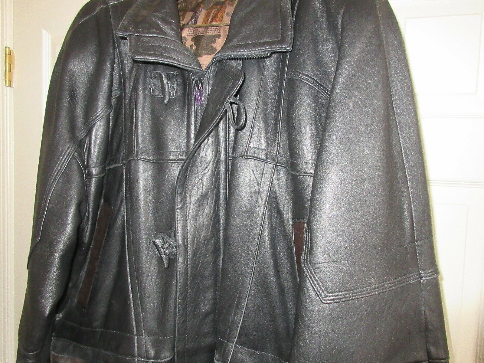 Crown Sport , Vintage , Leather , Heavy Men's Winter Co
