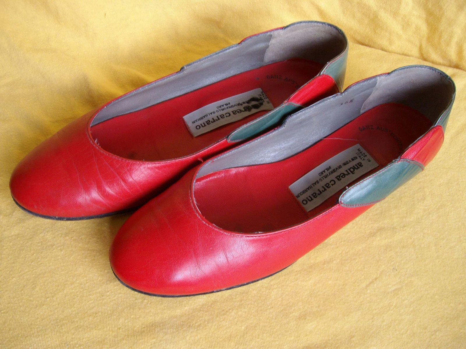 Damenschuhe - Pumps - Modell Andrea Carrano - Größe 36 1 2 - rot-grün