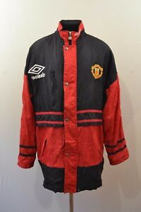 d758055364 VINTAGE 1990'S MANCHESTER UNITED SHARP UMBRO STADIUM PADDED JACKET ...