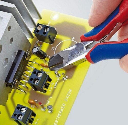 KNIPEX 7702115 Elektronik-Seitenschneider 115 mm rundem Kopf
