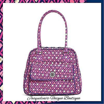 NWT Vera Bradley Turnlock Satchel Bag Katalina Pink Diamonds