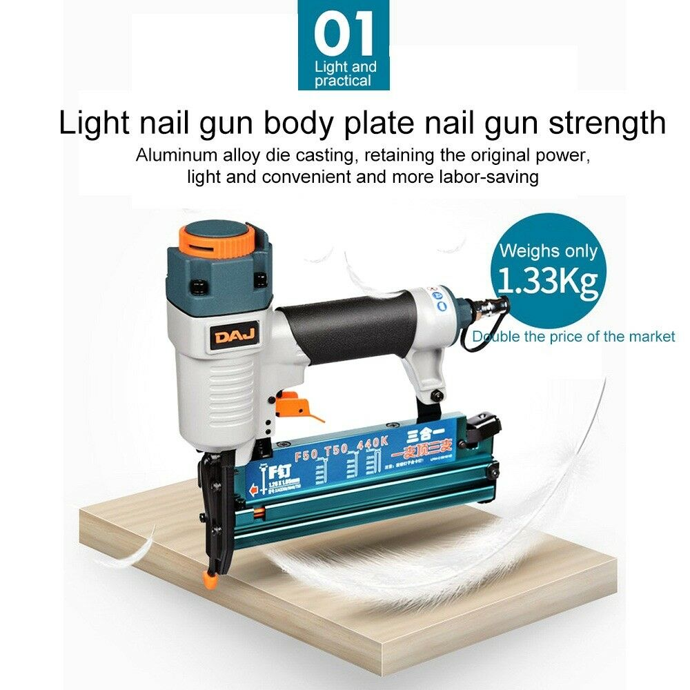 F50 T50 440K Pneumatic Air Nailer Nail Gun Frame Wooden Case Furniture Floor