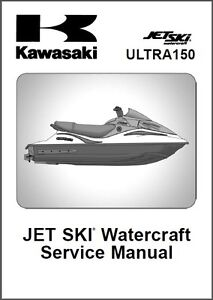 kawasaki ultra 150 jet ski service repair manual cd jetski rh ebay co uk Kawasaki ATV kawasaki ultra 260x service manual