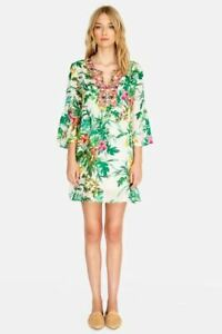 Johnny-Was-Flare-Sleeve-Printed-Embroidered-Tunic-Dress-Boho-Chic-W38419-NEW
