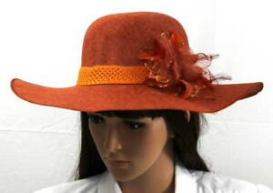 Women-Ladies-Elegant-Wide-Brim-Summer-Hat-With-Flower