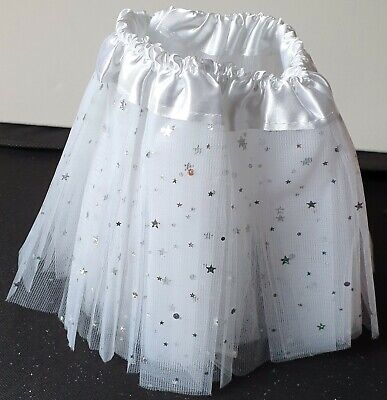 new toddler child white star triple net tutu waist 1020