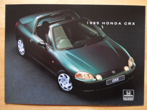 HONDA CRX COUPE orig 1995 UK Mkt Sales Brochure Prospekt