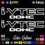 """thumbnail 15 - (2)x i-VTEC DOHC ivtec 11"""" emblem Vinyl Sticker Honda Civic Decal JDM drift 006"""