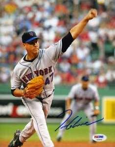 Tom-Glavine-Psa-Dna-Coa-Hand-Signed-8x10-Mets-Photo-Authentic-Autograph