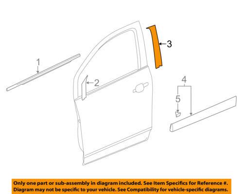 GM OEM Front Door-Black Out Tape Left 95389474