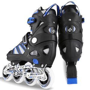 Pro-Inline-Skate-Rollerblade-Roller-Blades-Boots-PU-Wheel-Size-S-L-for-Adult