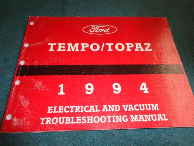 1994 Ford Tempo    Mercury Topaz Wiring Diagram Vacuum Shop Manual Original Book