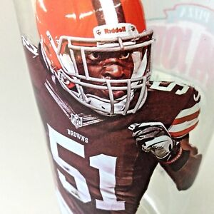 Nice Collectible Barkeviois Mingo Cleveland Browns Papa John Glass | eBay  for sale