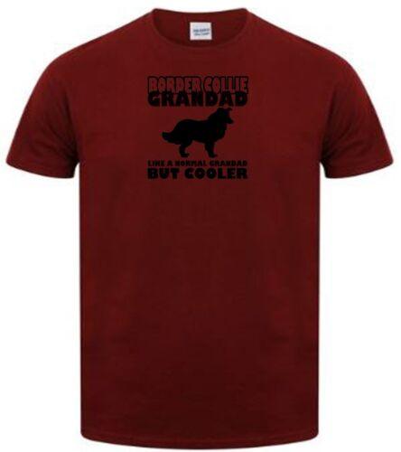 all dog breeds available border collie grandad novelty t shirt