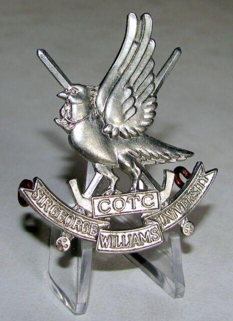 COTC Sir George Williams University Cap Badge Montreal , P.Q. - Canada 1959