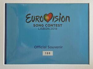 BILLET-0-EURO-ENCART-EUROVISION-LISBOA-PORTUGAL-2018-NUMERO-100-100-1100