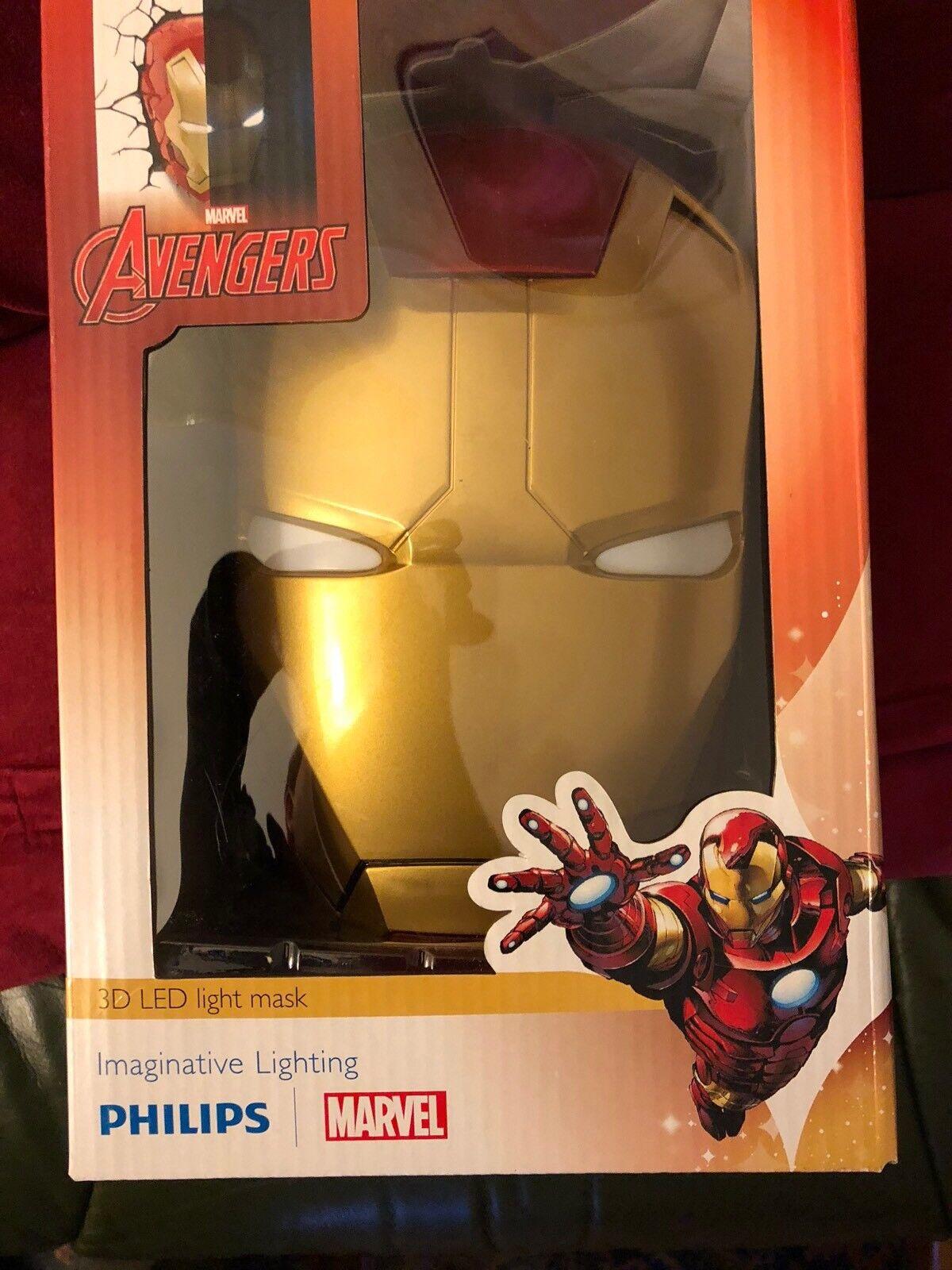Iron man 3  Head 3D deco  wall light
