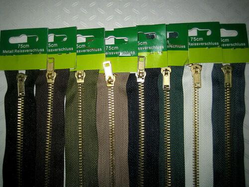 10-85 cm Reißverschluss Metall ab 50cm teilbar für Jacken Mantel und Hosen