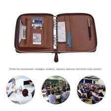 A5 Pu Leather Zip Portfolio Business Conference Folder Organiser Case Bag P8i1