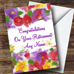 Beautiful flowers personalised retirement greetings card ebay image is loading beautiful flowers personalised retirement greetings card m4hsunfo Image collections