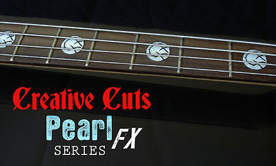 Blink 182 Mark Hoppus Custom MOP WHITE PEARL Fret Marker Stickers for ANY BASS