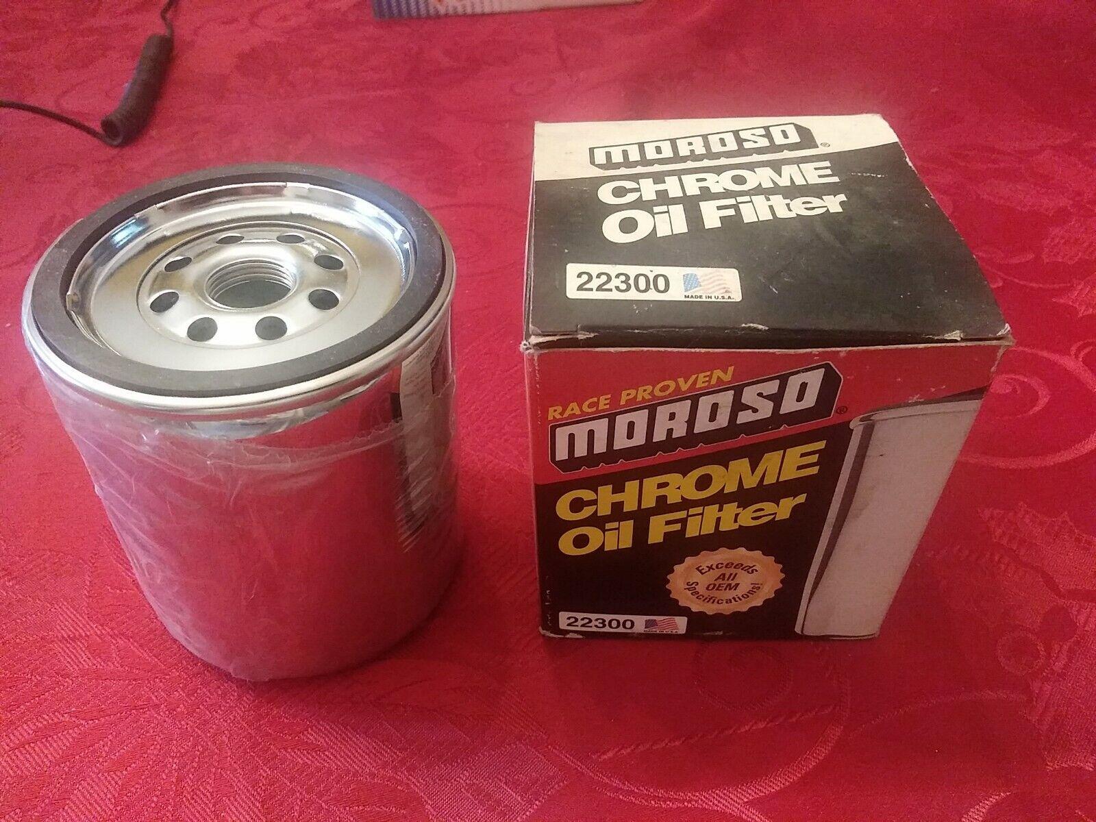 Moroso Performance OIL FILTER for Chevy CHROME 22300