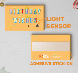 Image Is Loading 120s Light Sensor Birthday Wishes Sound Player Music