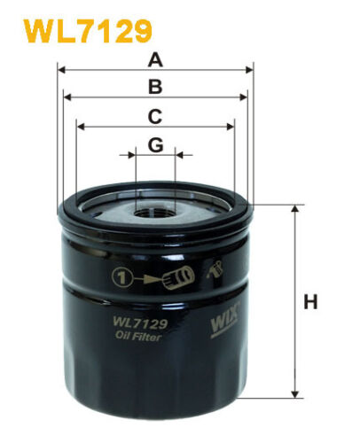 WIX WL7129 Car Oil Filter Spin-On Replaces W71222 PH4722 AW121