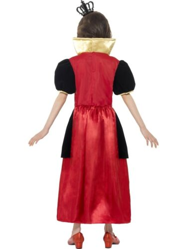 Childs Miss Hearts Fancy Dress Costume Girls Queen of Hearts by Smiffys