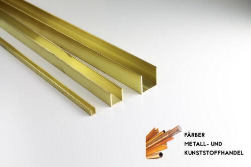 Messing U Profil 10x10x10 x1 mm CuZn43Pb2Al MS56 Länge 150mm