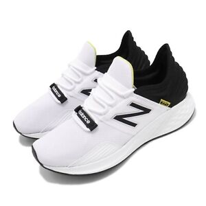 d8a0ce40 Details about New Balance Fresh Foam ROAV D White Black Yellow Mens Running  Shoes MROAVLWD
